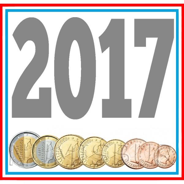 Tira LUXEMBURGO 2017 - 8 valores