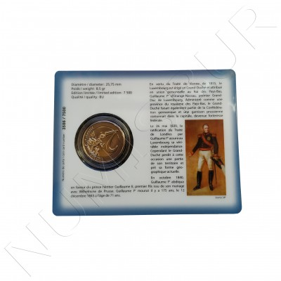 2€ LUXEMBURG 2018 - 175 aniv. of the death of the great Duke Guillermo I BU