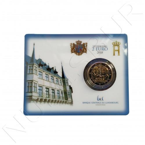 2€ LUXEMBURGO 2018 - 175 aniv. de la muerte del gran Duque Guillermo I BU