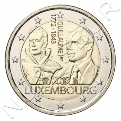 2€ LUXEMBURG 2018 - 175 aniv. of the death of the great Duke Guillermo I