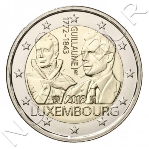2€ LUXEMBURGO 2018 - 175 aniv. de la muerte del gran Duque Guillermo I