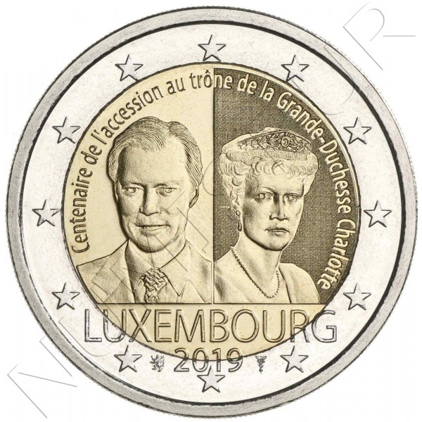 2€ LUXEMBURG 2019 - Centenary of the accession to the throne of the Grand Duchess Charlotte