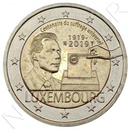 2€ LUXEMBURG 2019 - Universal suffrage