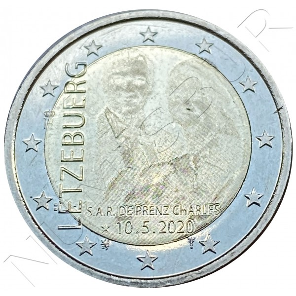 2€ LUXEMBURG 2020 - Birth of Crown Prince Charles (Embossing)