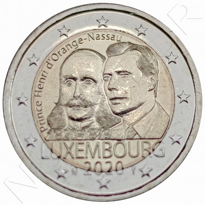 2€ LUXEMBURG 2020 - Bicentennial of the birth of Prince Henry