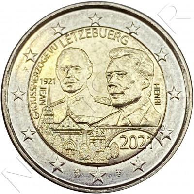 2€ LUXEMBURG 2021 - Centenary of the birth of Grand Duke Jean (Normal)