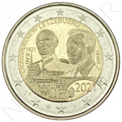 2€ LUXEMBURG 2021 - Centenary of the birth of Grand Duke Jean  (Gofrada)