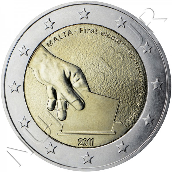 2€ MALTA 2011 - First elections