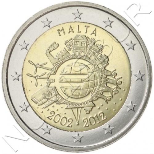 2€ MALTA 2012 - X anniversary of Euro