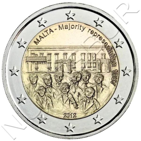 2€ MALTA 2012 - Majority representation 1887