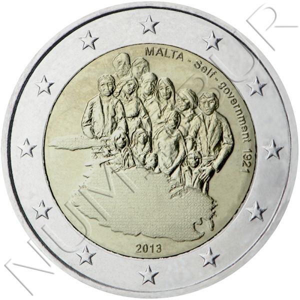 2€ MALTA 2013 - Constitución del autogobierno de 1921