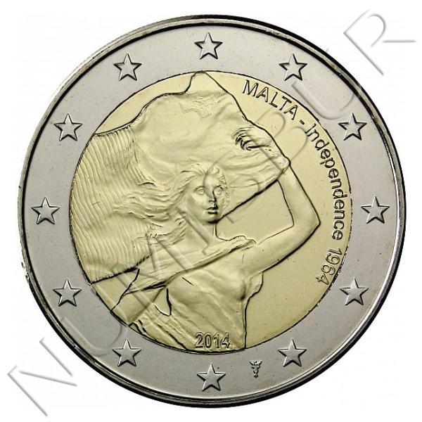 2€ MALTA 2014 - Independencia