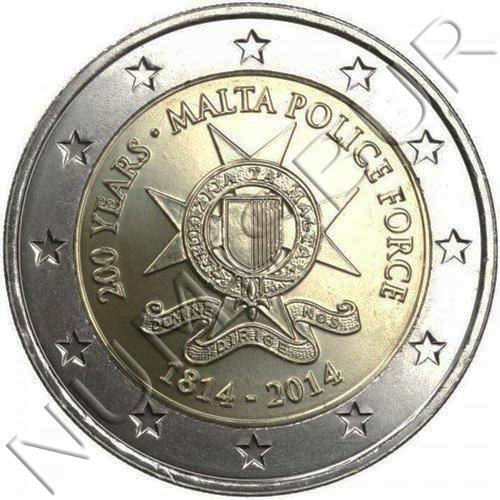 2€ MALTA 2014 - Policia