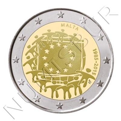2€ MALTA 2015 - XXX aniv. de la bandera Europa