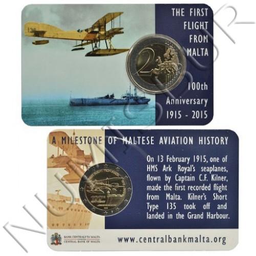 2€ MALTA 2015 -  First flight Coin card