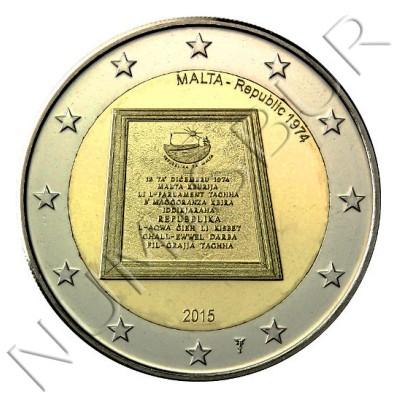 2€ MALTA 2015 - Republica 1974