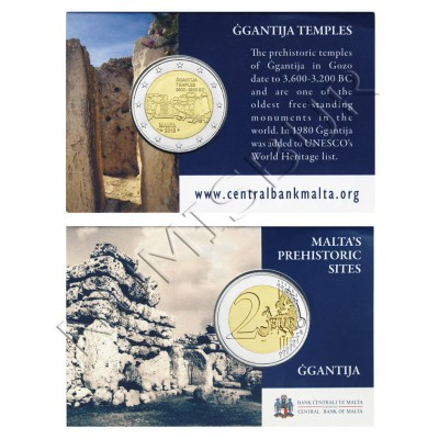 2€ MALTA 2016 - Ggantija temple (Coin Card)