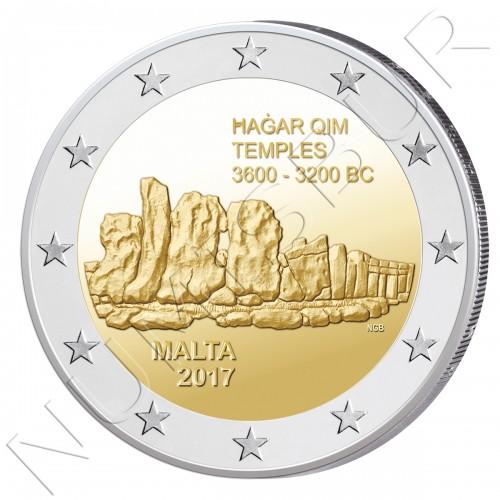 2€ MALTA 2017 - Templo de Hagar Qim (ROLL)