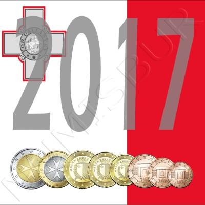 Tira MALTA 2017 - 8 coins