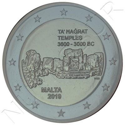 Euroset MALTA 2019 - BU 2€ (Temple Ta' Hagrat)