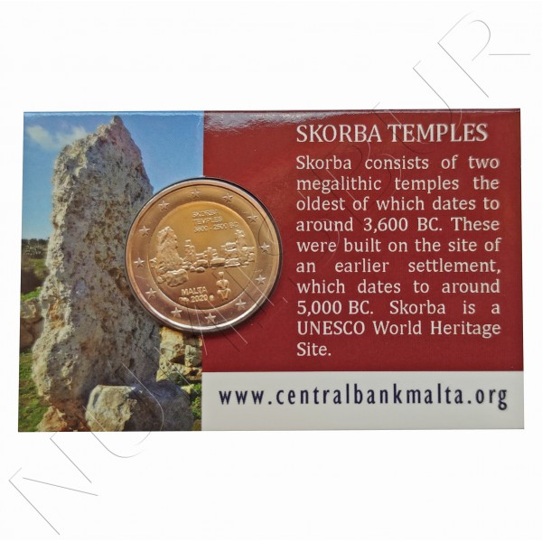 2€ MALTA 2020 - Temple Skorba BU