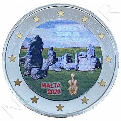 2€ MALTA 2020 - Temple Skorba (COLORED)