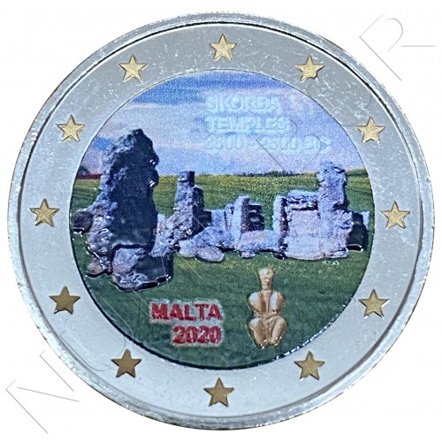 2€ MALTA 2020 - Temple Skorba (COLORED)
