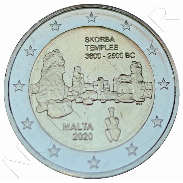 2€ MALTA 2020 - Temple Skorba
