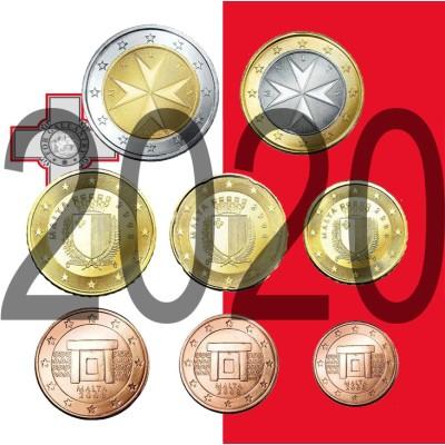 Tira MALTA 2020 - 8 coins