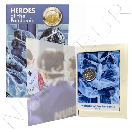 2€ MALTA 2021 - Heroes of the pandemic (BU)