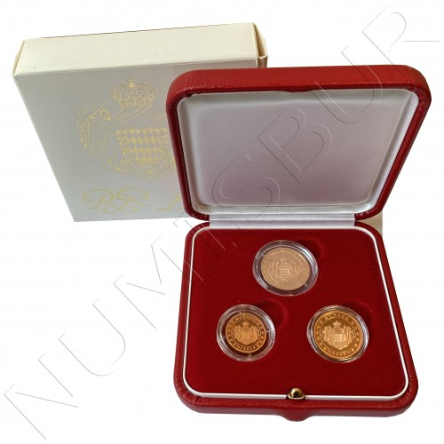 MONACO 2005 - 1 cent, 2 cents and 5 cents