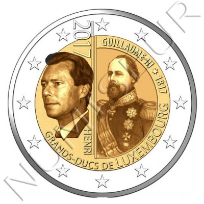2€ LUXEMBURG 2017 - 200 aniv. birth Grand Duke William III