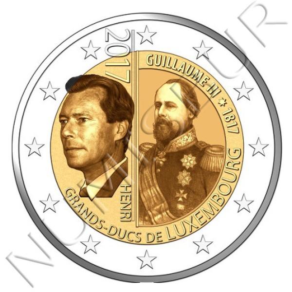 2€ LUXEMBURGO 2017 - 200 aniv. nacimiento Gran Duque Guillermo III