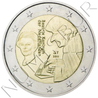 2€ NETHERLANDS  2011 - Erasmus of Rotterdam