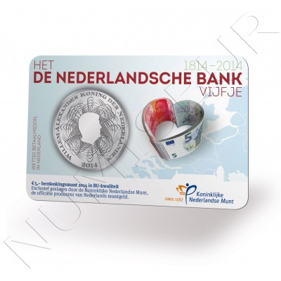 5€ NETHERLANDS 2014 - Nethelands bank