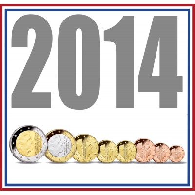 Tira NETHERLANDS 2014 - 8 coins