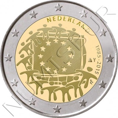 2€ NETHERLANDS  2015 - XXX aniversary of European FLAG