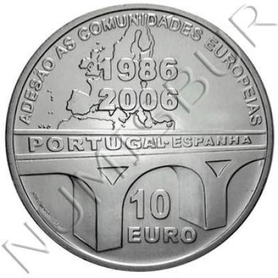 10€ PORTUGAL 2006 - 20 Anniversary EU Membership