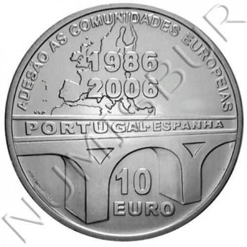 10€ PORTUGAL 2006 - 20 aniv. adhesión UE