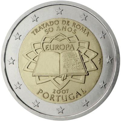 2€ PORTUGAL 2007 - Tratado de Roma