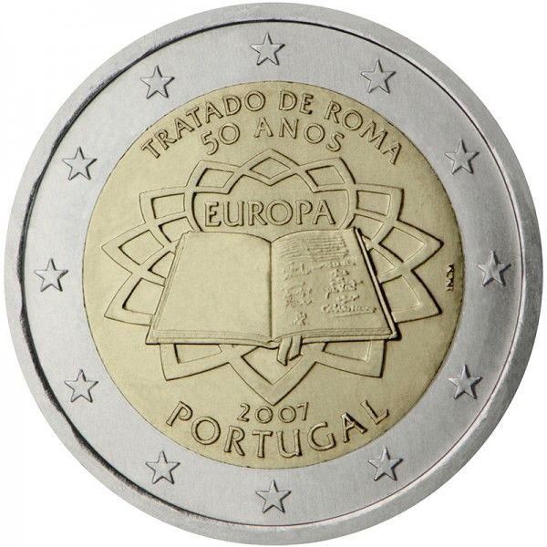 2€ PORTUGAL 2007 - Trate of Rome