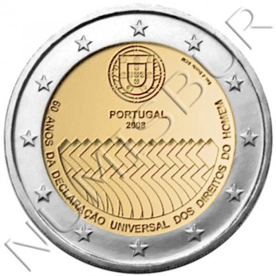 2€ PORTUGAL 2008 - Derechos humanos PROOF