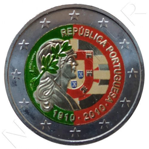 2€ PORTUGAL 2010 - Republica Portuguesa 1910 (COLOR)