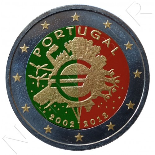 2€ PORTUGAL 2012 - 10º aniv. EURO (COLOR)