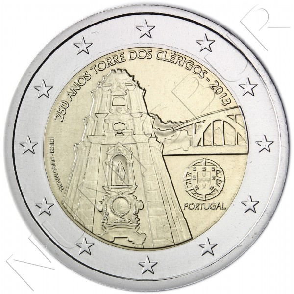 2€ PORTUGAL 2013 - Two Clerigos Tower