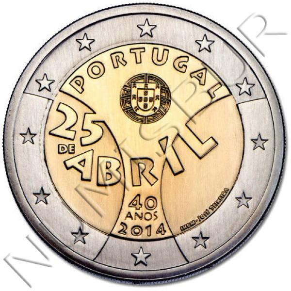 2€ PORTUGAL 2014 - 40 años Revolución 25 Abril