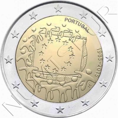 2€ PORTUGAL 2015 - XXX aniv. de la bandera Europa