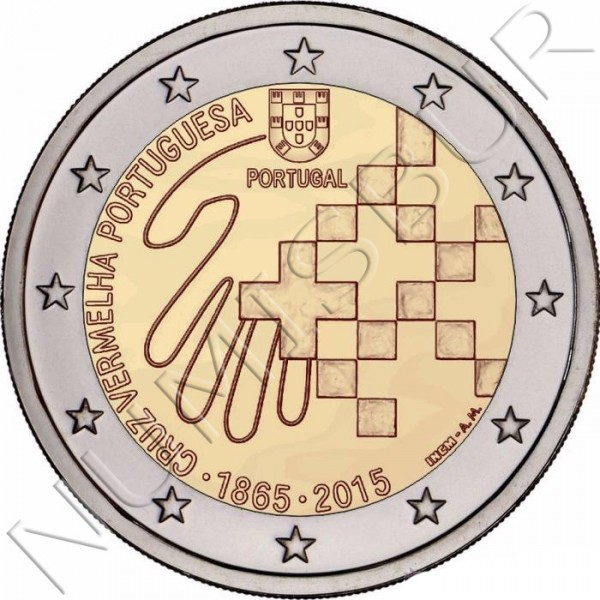 2€ PORTUGAL 2015 - Red cross