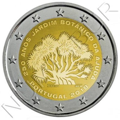 2€ PORTUGAL 2018 - 250 Years of the Botanical Garden of Ajuda