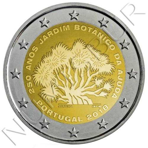 2€ PORTUGAL 2018 - 250 Años del Jardín Botánico de Ajuda